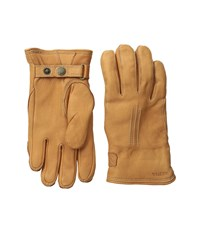Hestra Deerskin Lambskin Cork Ski Gloves Brown