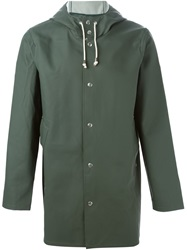 Stutterheim Hooded Raincoat Green