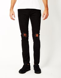 Only And Sons Warp Black Denim Jeans