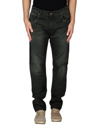 Maison Clochard Denim Pants Dark Green