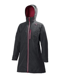Helly Hansen Long Belfast Rain Jacket Charcoal