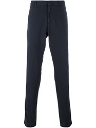 Z Zegna Tapered Chinos Blue