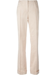 Blumarine Front Pleat Wide Leg Trousers