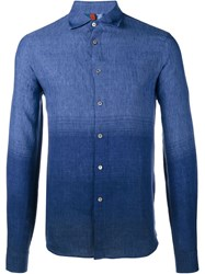Missoni Fade Out Linen Shirt Blue