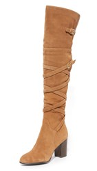 Sam Edelman Sable Over The Knee Boots Golden Caramel