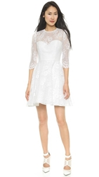 Monique Lhuillier Mignon A Line Dress White White
