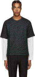 Wooyoungmi Grey Embroidered Wool T Shirt