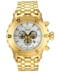 Invicta Men's Swiss Chronograph Reserve Subaqua Gold Tone Stainless Steel Bracelet Watch 52Mm 14508