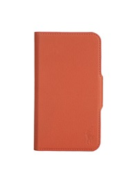 Polo Ralph Lauren Pebbled Orange Leather Samsung Phone Case