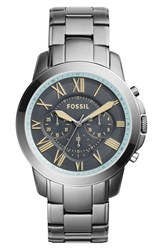 Men's Fossil 'Grant' Chronograph Bracelet Watch 44Mm