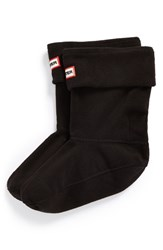 Women's Hunter Short Fleece Welly Socks Black Fleece