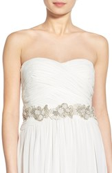 Women's Nestina Accessories 'Laurette' Crystal And Bead Bridal Sash