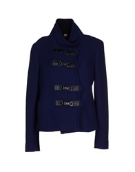 Caractere Coats And Jackets Coats Women Blue