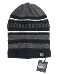 William Rast Mutli Stripe Slouch Beanie Black