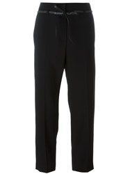 Brunello Cucinelli Belted Cropped Trousers Black