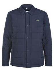 Lacoste Quilted Button Down Jacket Eclipse