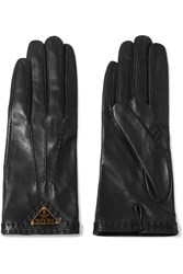 Prada Leather Gloves Black