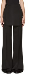 Yang Li Black Wide Leg Apron Trousers