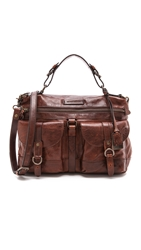 Frye Josie Satchel Dark Brown