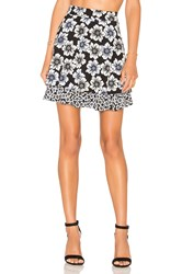 Kate Spade Hollyhock Double Layer Skirt Black