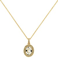 Cachet Tiaret Swarovski Crystal Pendant Necklace Gold