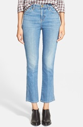 The Great 'The Nerd' Crop Jeans True Blue Crease Wash