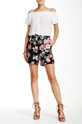 Lily White Printed Short Black