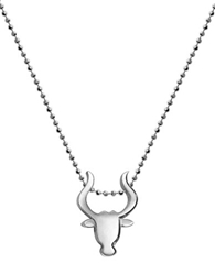 Alex Woo Little Signs Taurus Sterling Silver Pendant Necklace