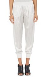 Atm Anthony Thomas Melillo Women's Striped Satin Sweatpants Colorless