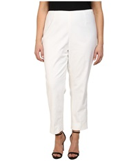 Nic Zoe Plus Size Perfect Side Zip Ankle Pants Paper White Women's Casual Pants