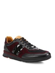 Bally Mixed Media Low Top Sneakers Black