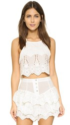 Somedays Lovin Serenade Lace Crop Top White