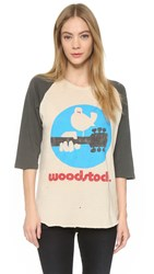 Madeworn Rock Woodstock Logo Usa Pullover Dirty White