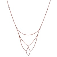 Dutch Basics Boog Fine Chain Necklace Rose Gold