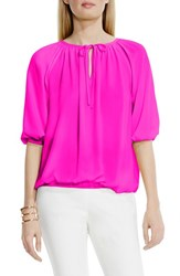 Women's Vince Camuto Polka Dot Peasant Blouse Pop Pink