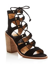 Dolce Vita Lyndon Gladiator Lace Up High Heel Sandals Black