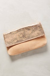 Anthropologie Two Tone Clutch Rose