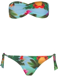 Osklen Stretch Tropical Print Bikini Set Blue