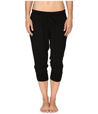 Hard Tail Jogger Capris Black Women's Capri