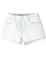 Mother 'The Stunner' Frayed Shorts White