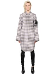 Alyx Check Cotton Poplin Dress W Embroidery