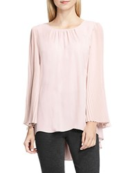 Vince Camuto Petite Chiffon Pleated Sleeve Blouse Pink