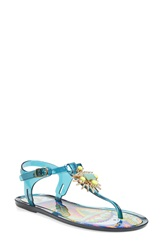 Ivy Kirzhner 'Jezabelle' Jelly Thong Sandal Women Pacific Blue