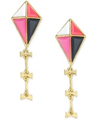Kate Spade New York Gold Tone Colorful Kite Drop Earrings