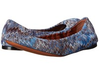 Missoni Scrunch Ballet Flat Cobalto Women's Flat Shoes Navy