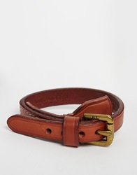 Polo Ralph Lauren Leather Bracelet Brown