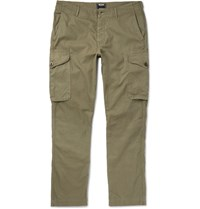 Todd Snyder Infantry Herringbone Cotton Cargo Trousers Green