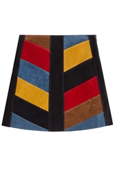 Mih Jeans Suede Skirt Multicolor