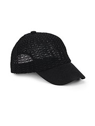 Saks Fifth Avenue Knit Cap Black