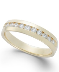 Macy's Men's Diamond Band In 14K Gold 1 2 Ct. T.W. Yellow Gold